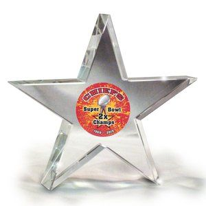 KC Chiefs Super Bowl Champs Crystal Paperweight